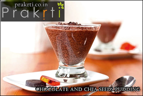 chia seeds and chocolate pudding