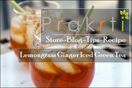 lemongrass ginger iced green tea