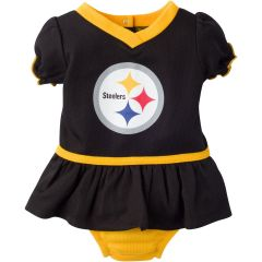 Baby Pittsburgh Steelers Dazzle Bodysuit, Infant Girl's