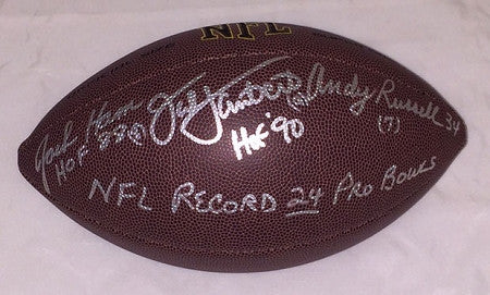 Jack Lambert, Andy Russell, Jack Ham Autographed & Inscribed Wilson Replica Football