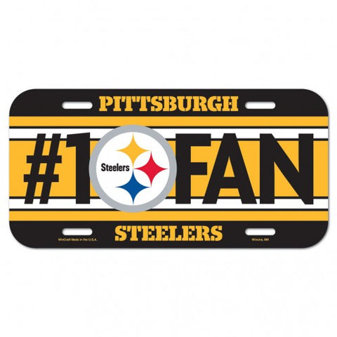PITTSBURGH STEELERS #1 FAN LICENSE PLATE
