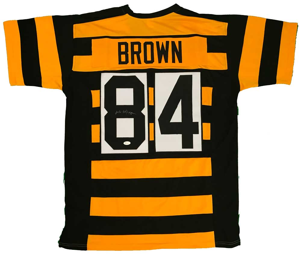 4ce099dab5a Antonio Brown Autographed Custom Bumble Bee Jersey | TSE Shop