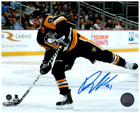 Phil Kessel Signed 8x10 Shooting Puck Photo