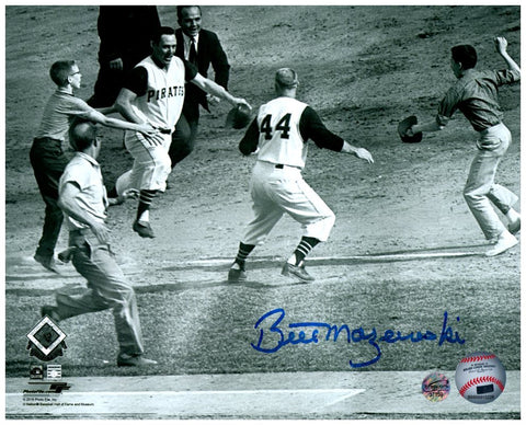 Bill Mazeroski Autographed Rounding Third 8x10 Photo (RARE!)