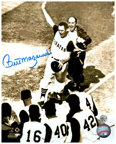 Bill Mazeroski Autographed Pre-Mobbed Vertical 8x10 Photo