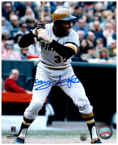 Manny Sanguillen Signed Batting in Gray