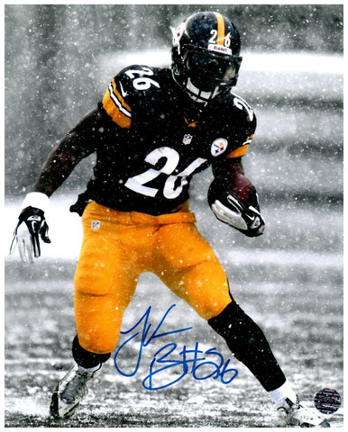 Le'Veon Bell SIGNED Snow at Heinz Field 8x10 Photo