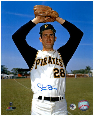 Steve Blass Signed Two Arms Up 8x10