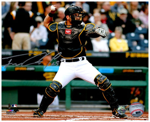 Francisco Cervelli Signed Throwing with Mask On 8x10