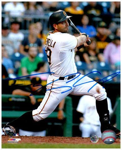 Francisco Cervelli Signed Full Swing in White Vertical 8x10