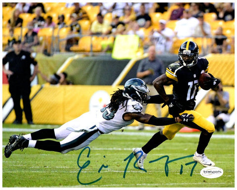 Eli Rogers Evading Tackle vs Eagles 8x10 Photo - Signed