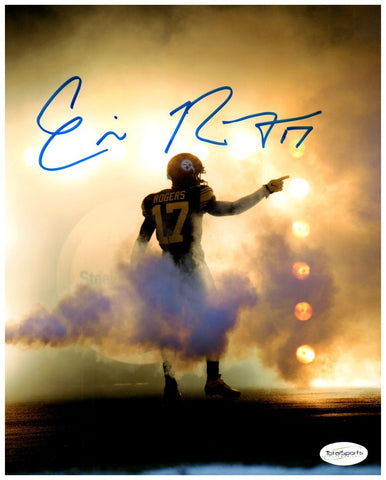 Eli Rogers Autographed Pointing in Fog 8x10 Photo