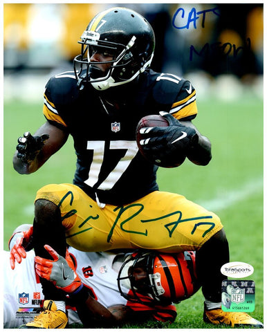 Eli Rogers Autographed Squatting on Bengal 8x10 Photo with