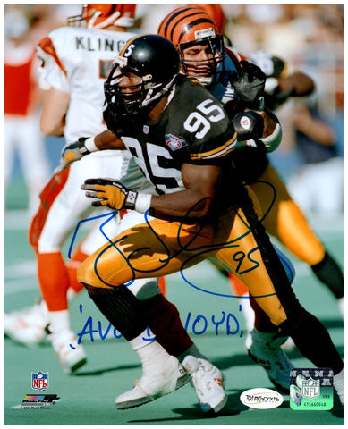 Greg Lloyd Autographed Running in Black 8x10 with