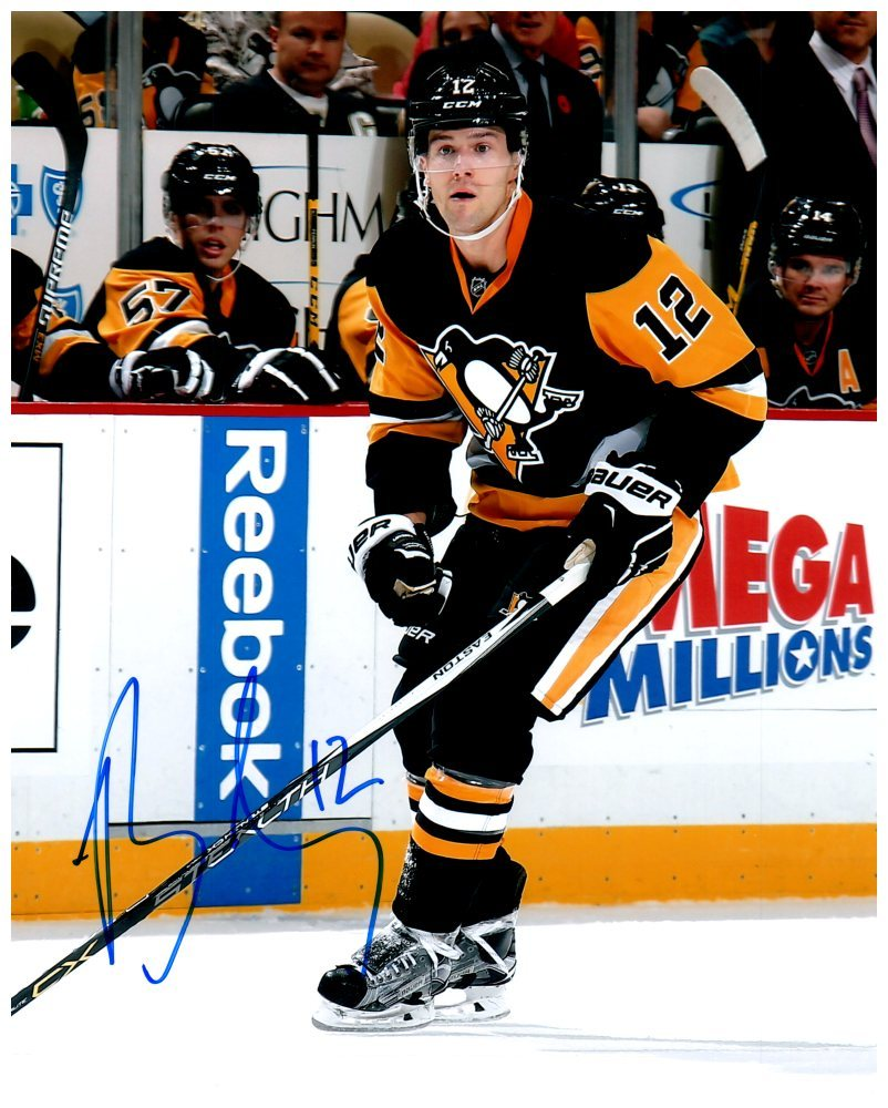 Brian Lovejoy Signed Stick On Ice 8x10 Photo