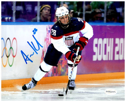 Amanda Kessel Signed USA 8x10 Photo