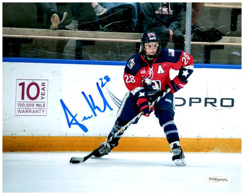 Amanda Kessel Signed New York Riveters Forward View 8x10 Photo