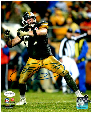 Brett Keisel Autographed Celebrating 8x10 Photo