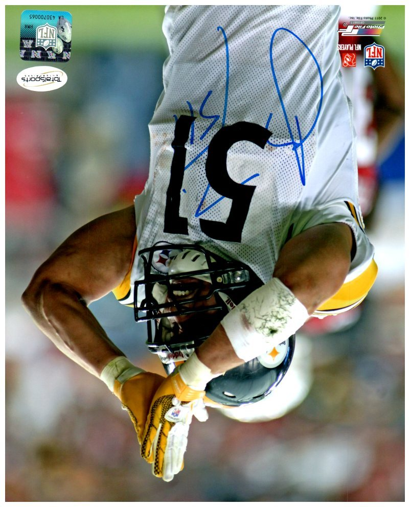 James Farrior Autographed Safety 8x10 Photo