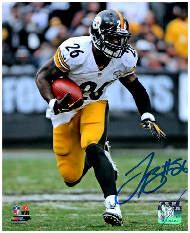 Le'Veon Bell SIGNED Juking in White 8x10 Photo