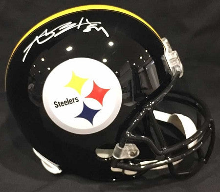 Antonio Brown Autographed Black Authentic Full-Size Helmet (White Ink)