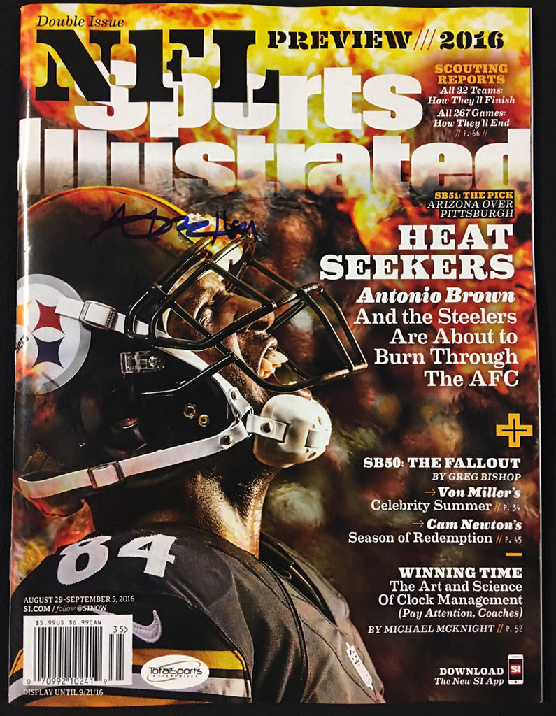 Antonio Brown AUTOGRAPHED Sports Illustrated Heatseakers Newsstand Edition