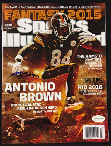 Antonio Brown AUTOGRAPHED Sports Illustrated