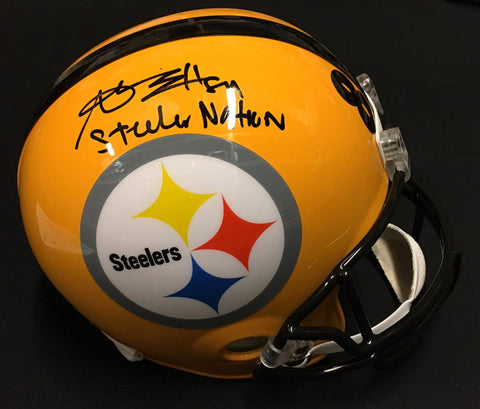 Antonio Brown Autographed 75th Anniversary Replica Helmet inscribed
