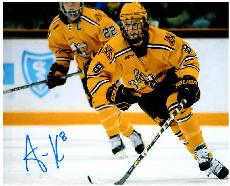 Amanda Kessel Signed Minnesota Skating 11x14 Photo