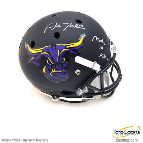Adam Thielen Signed Minnesota State University FS Schutt Helmet with Made in MN