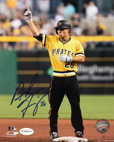 Adam Frazier On Base Pointing Skyward 8x10 Photo - Autographed