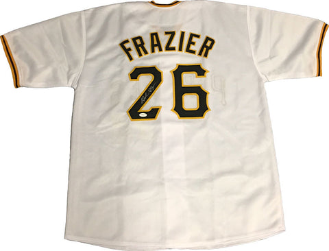 Adam Frazier Signed Custom White Jersey