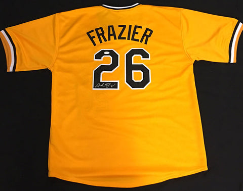 Adam Frazier Signed Custom Gold Jersey