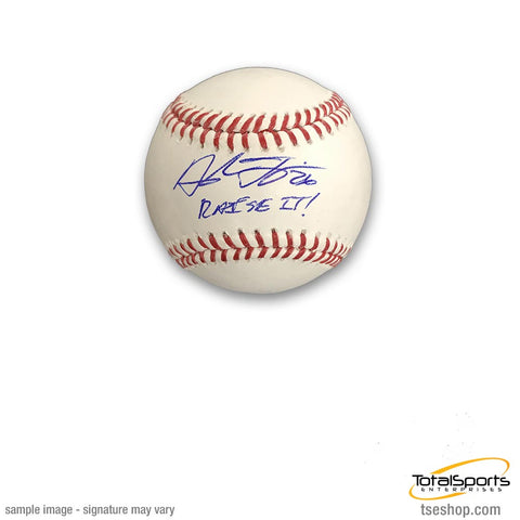 Adam Frazier Signed Official Rawlings MLB Baseball with Raise It