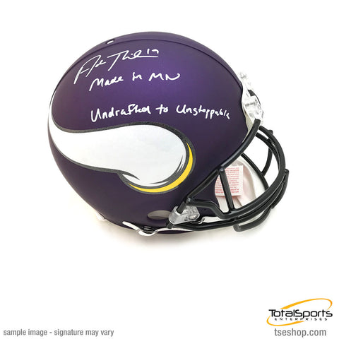Adam Thielen Signed Minnesota Vikings FS Authentic Helmet with 2 Inscriptions