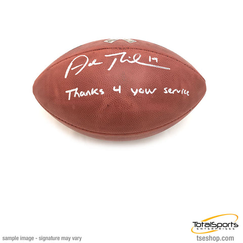 Adam Thielen Signed Duke Authentic Military Logo Football with Thanks 4 Your Service