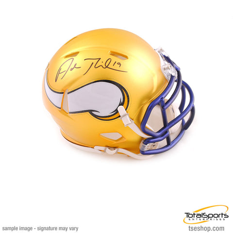 Adam Thielen Signed Minnesota Vikings Blaze Mini Helmet