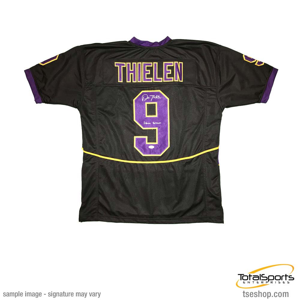1beef82d75f Adam Thielen Signed Custom College Jersey with Home Grown