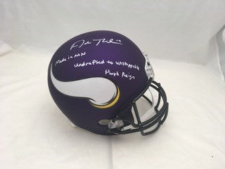 Adam Thielen Signed Minnesota Vikings FS Replica Helmet with 3 Inscriptions