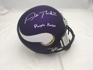 Adam Thielen Signed Minnesota Vikings FS Replica Helmet with 'Purple Reign'