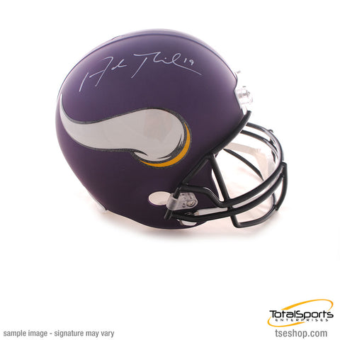 Adam Thielen Signed Minnesota Vikings FS Replica Helmet