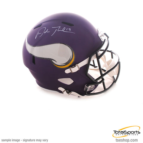 Adam Thielen Signed Minnesota Vikings FS SPEED Helmet