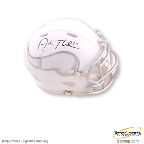 Adam Thielen Signed Minnesota Vikings Ice Mini Helmet