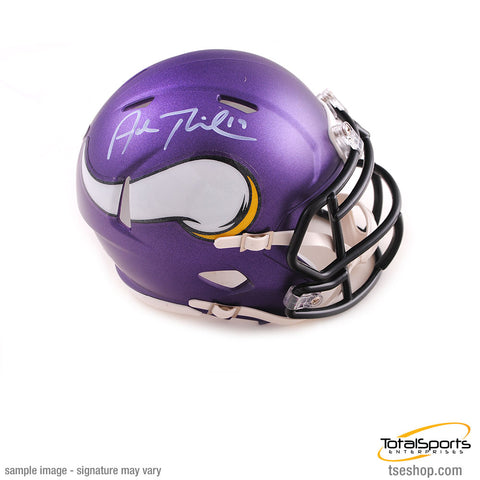 Adam Thielen Signed Minnesota Vikings SPEED Mini Helmet
