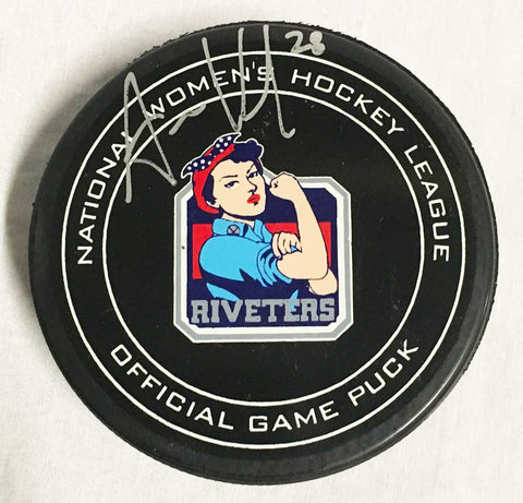 Amanda Kessel Signed New York Riveters Game Model Puck
