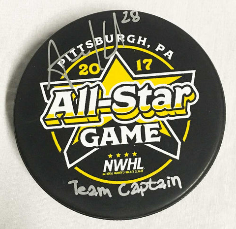 Amanda Kessel Signed 2017 All Star Puck with
