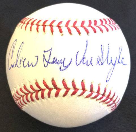 Andy Van Slyke Autographed MLB Baseball - With Full Name
