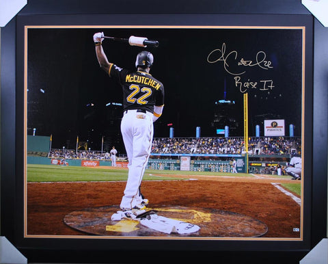 Andrew McCutchen On Deck Circle at Night - 30x40 -