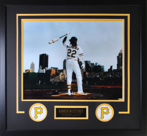 Andrew McCutchen On Deck 16x20 - Horizontal Unsigned - Professionally Framed