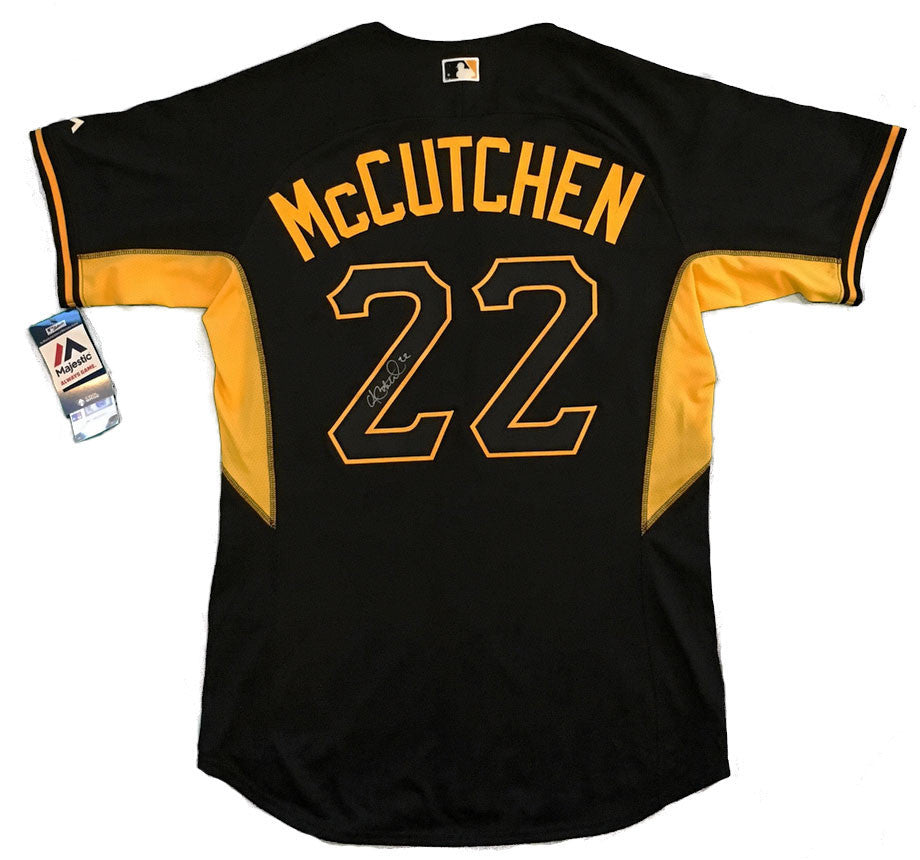 Andrew McCutchen Autographed Pittsburgh Pirates Black Authentic Majestic Batting Jersey